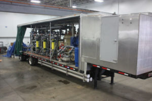 Equipment Truck hull open